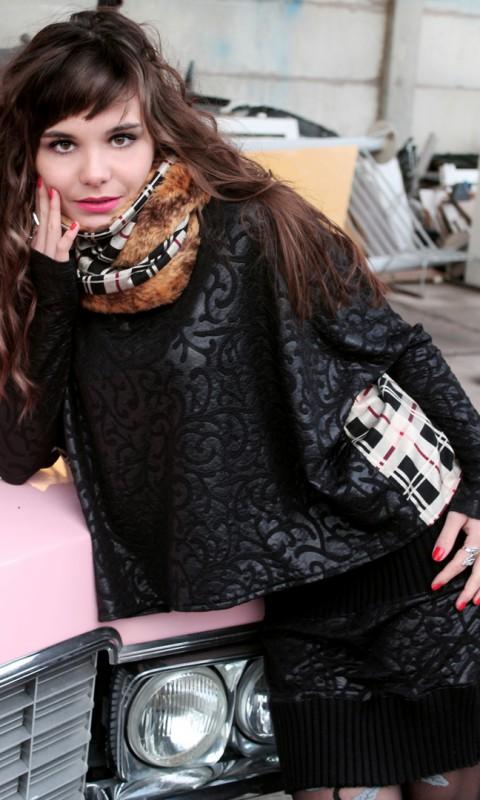 Rock und Bluse schwarz