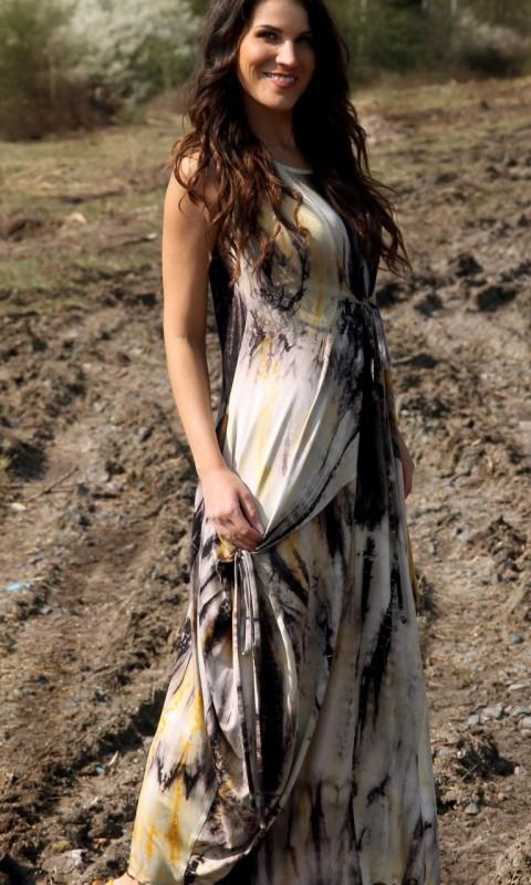 Batikkleid lang